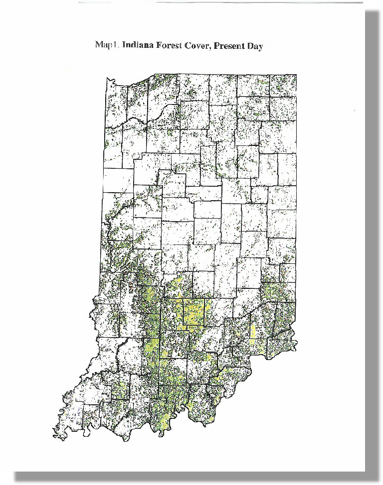 Indiana Forest Cover, Present Day